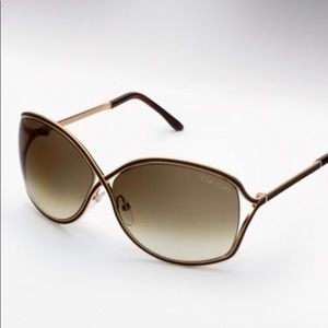 Tom Ford Rickie Sunglasses in Brown/Taupe